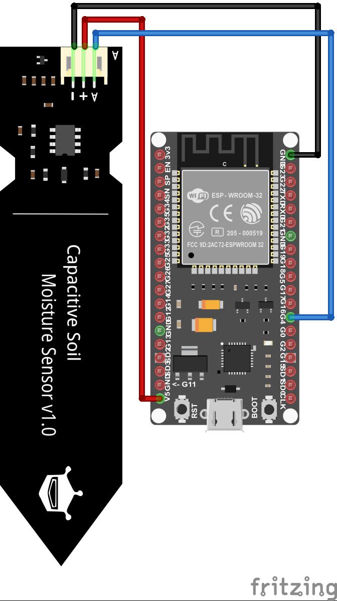 Soil Moisture Sensor ESP32 NodeMCU