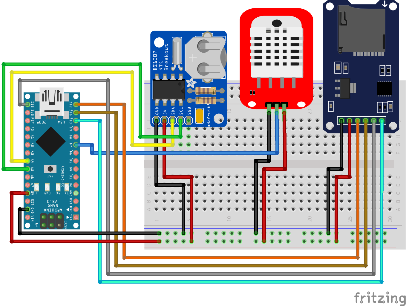 Temperaturelogger RTC Arduino Nano