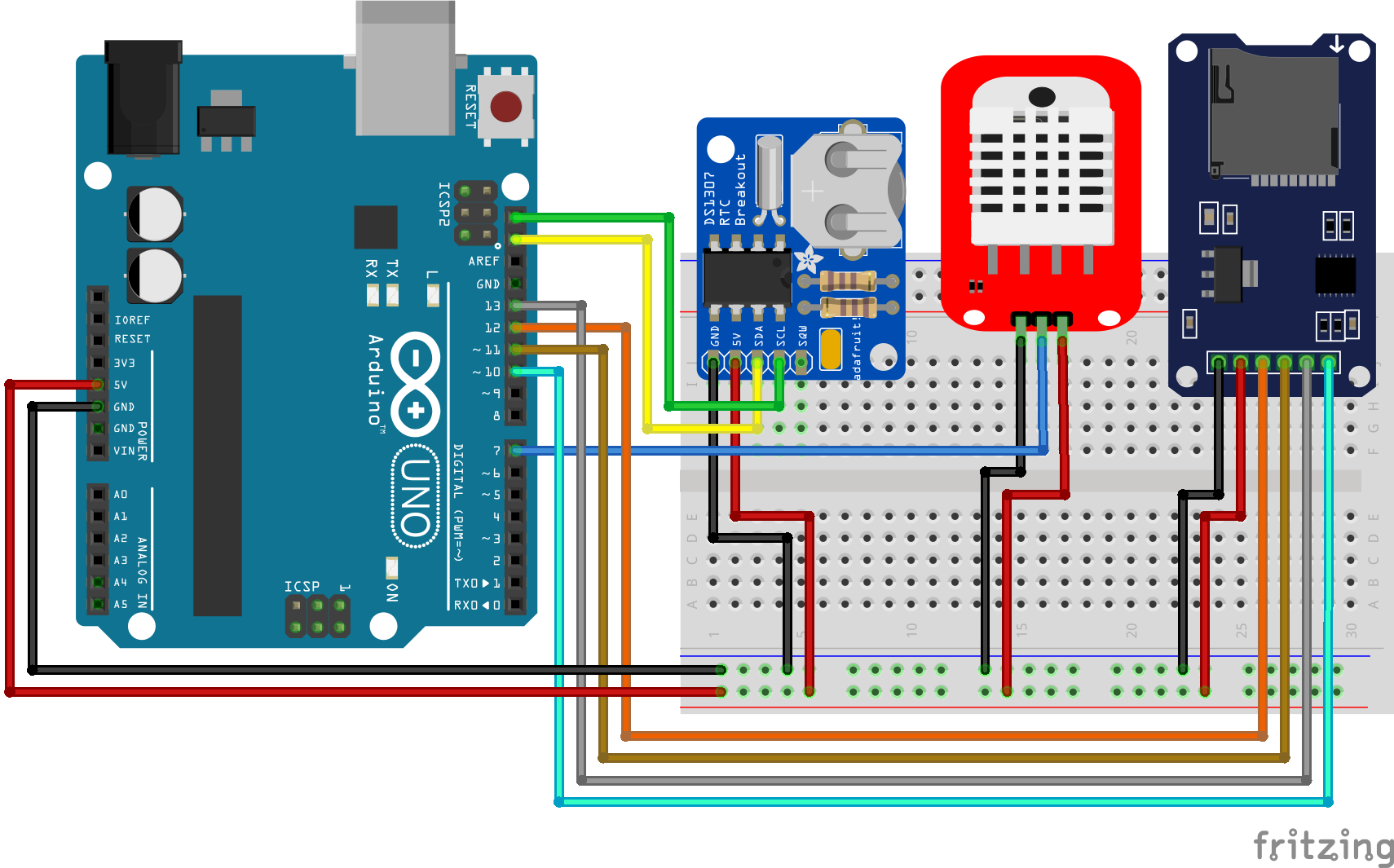 Temperaturelogger RTC Arduino Uno