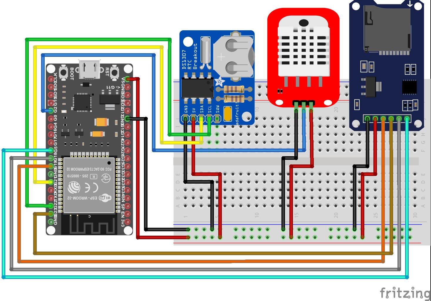 Temperaturelogger RTC ESP32 NodeMCU