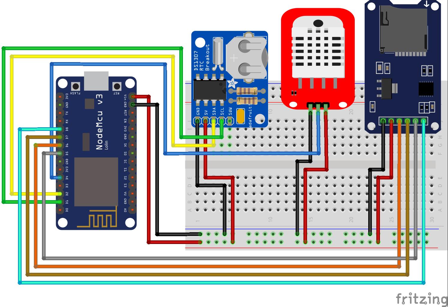 Temperaturelogger RTC ESP8266 NodeMCU