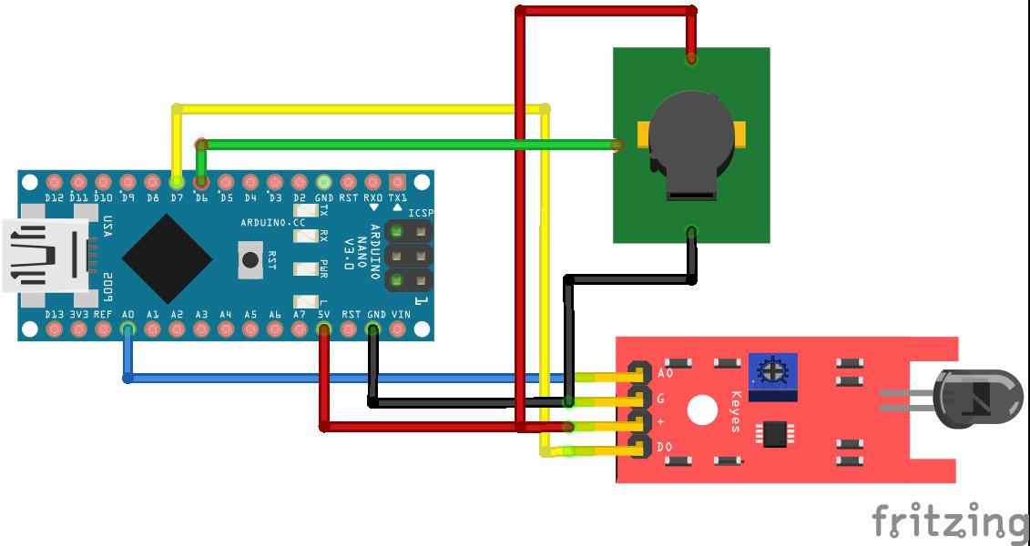 Fire Sensor Arduino Nano