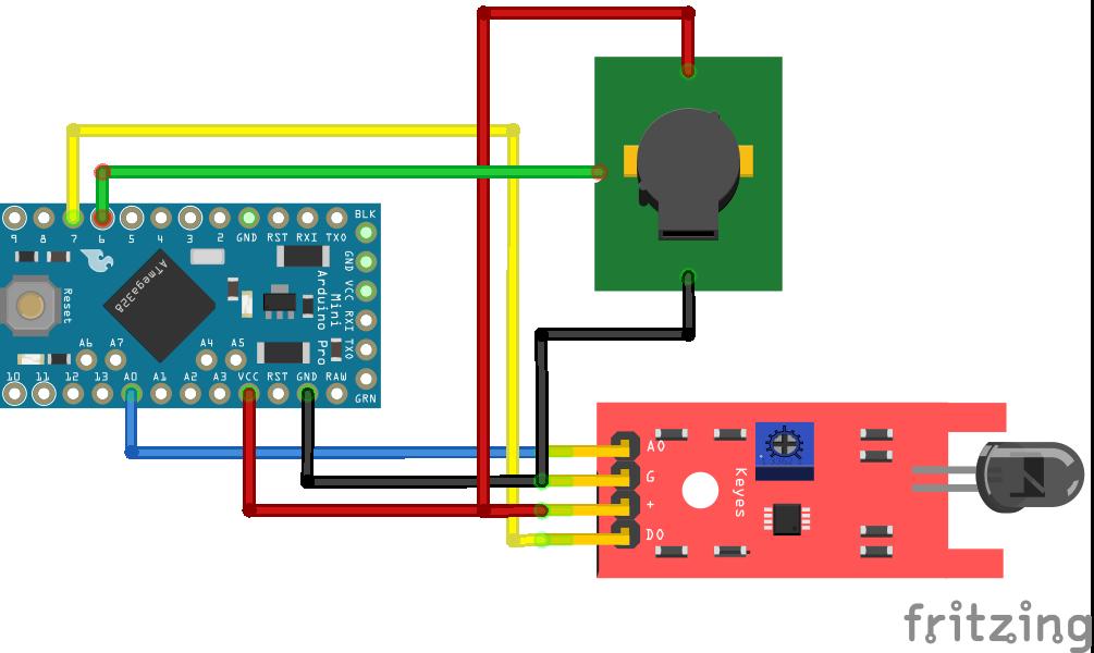 Fire Sensor Arduino Pro Mini