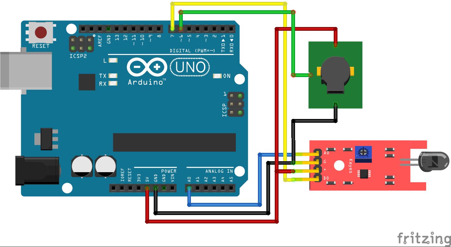 Fire Sensor Arduino Uno
