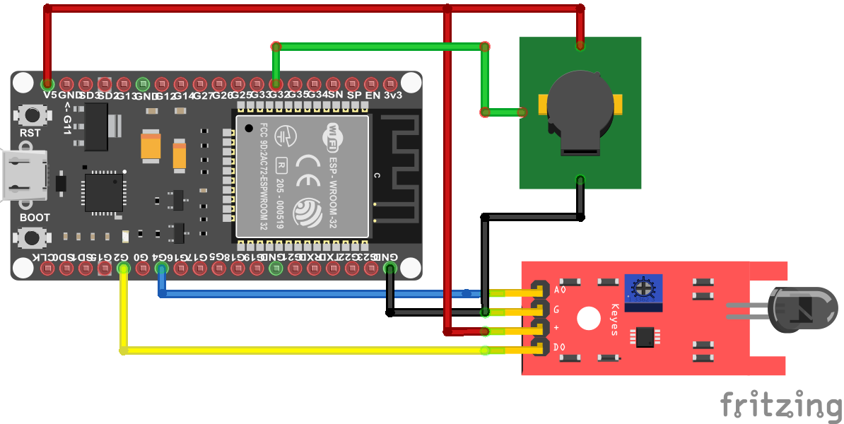 Fire Sensor ESP32 NodeMCU