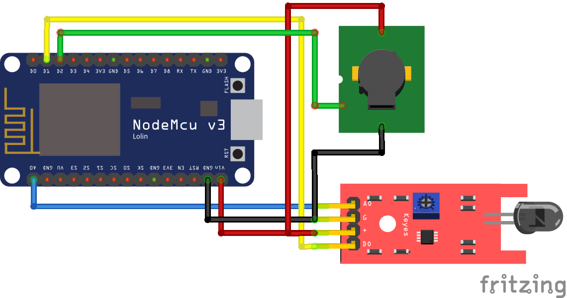 Fire Sensor ESP8266 NodeMCU