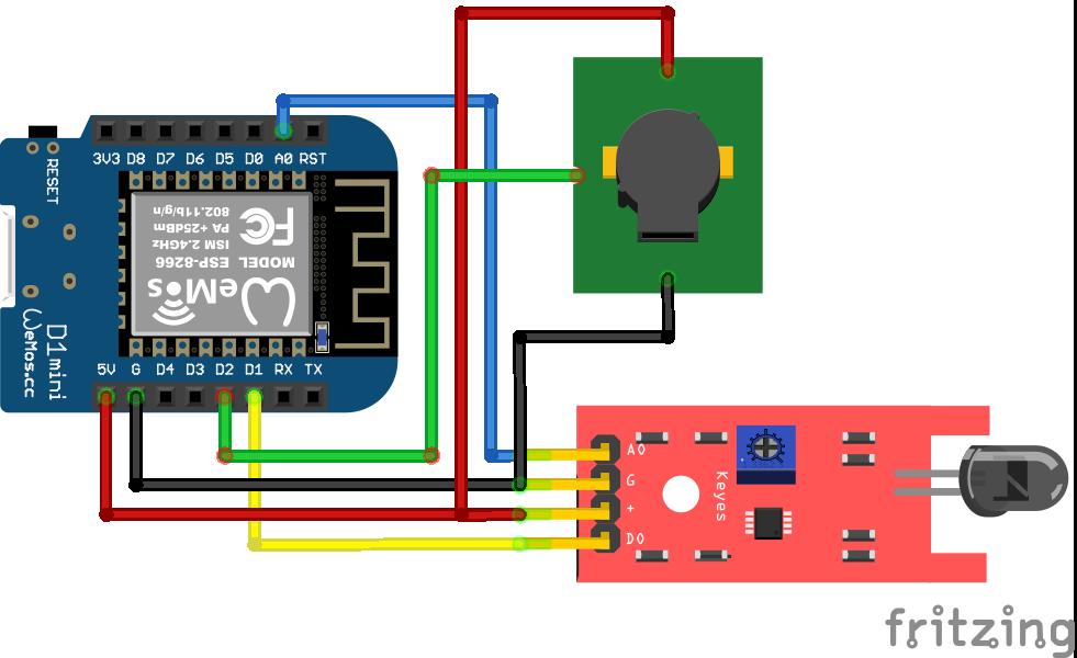 Fire Sensor ESP8266 WeMosD1 Mini