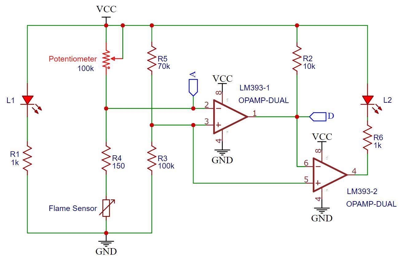 KY-026 Flame Sensor Module Schematic
