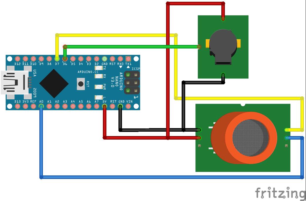 MQ2 Gas Sensor Arduino Nano