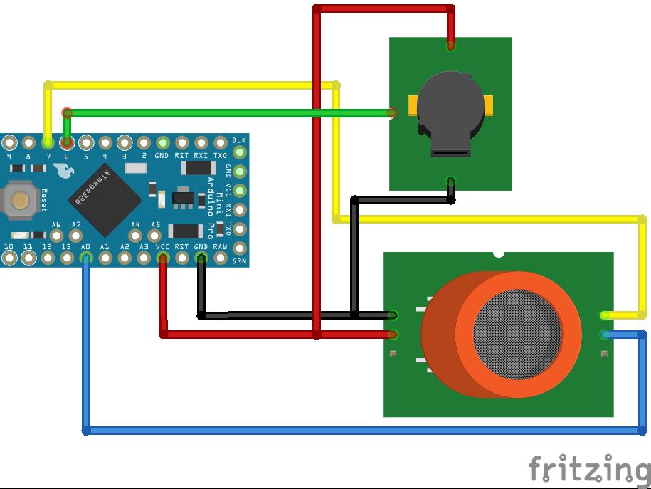 MQ2 Gas Sensor Arduino Pro Mini