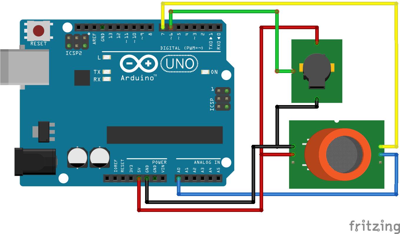 MQ2 Gas Sensor Arduino Uno