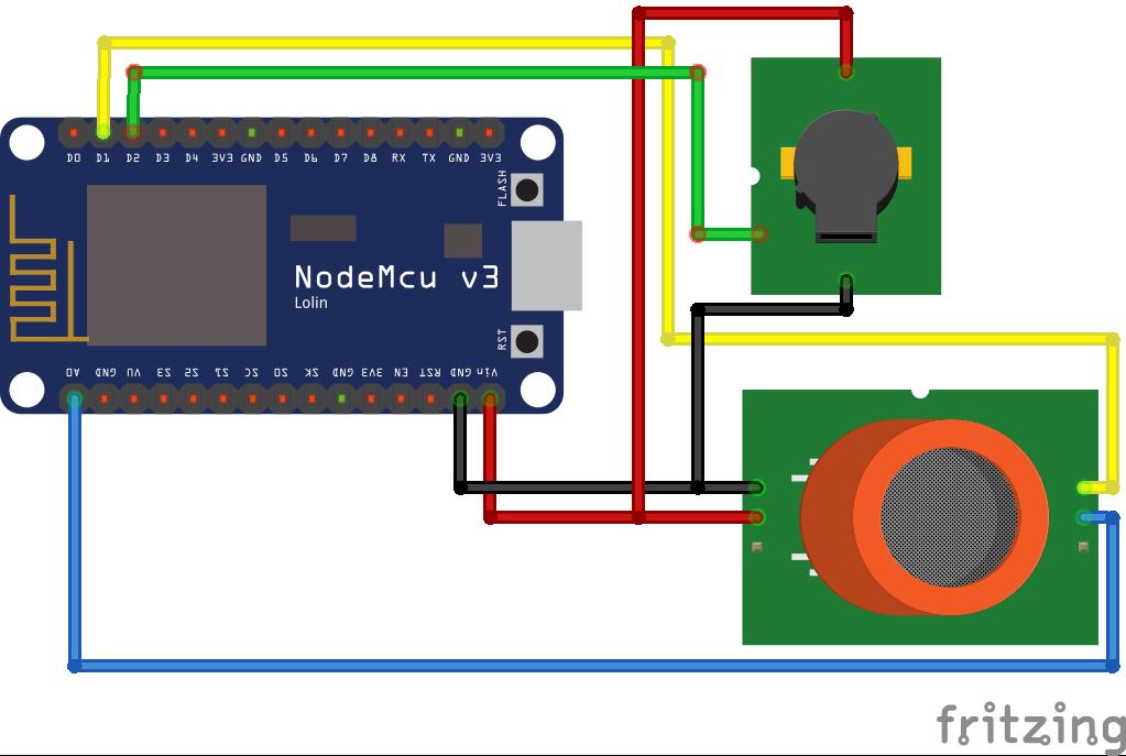MQ2 Gas Sensor ESP8266 NodeMCU