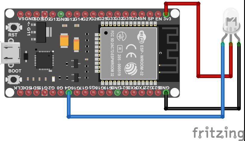 7 Color Flash LED KY-034 ESP32 NodeMCU