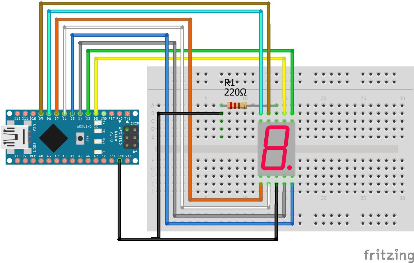 7 Segment LED Display Arduino Nano