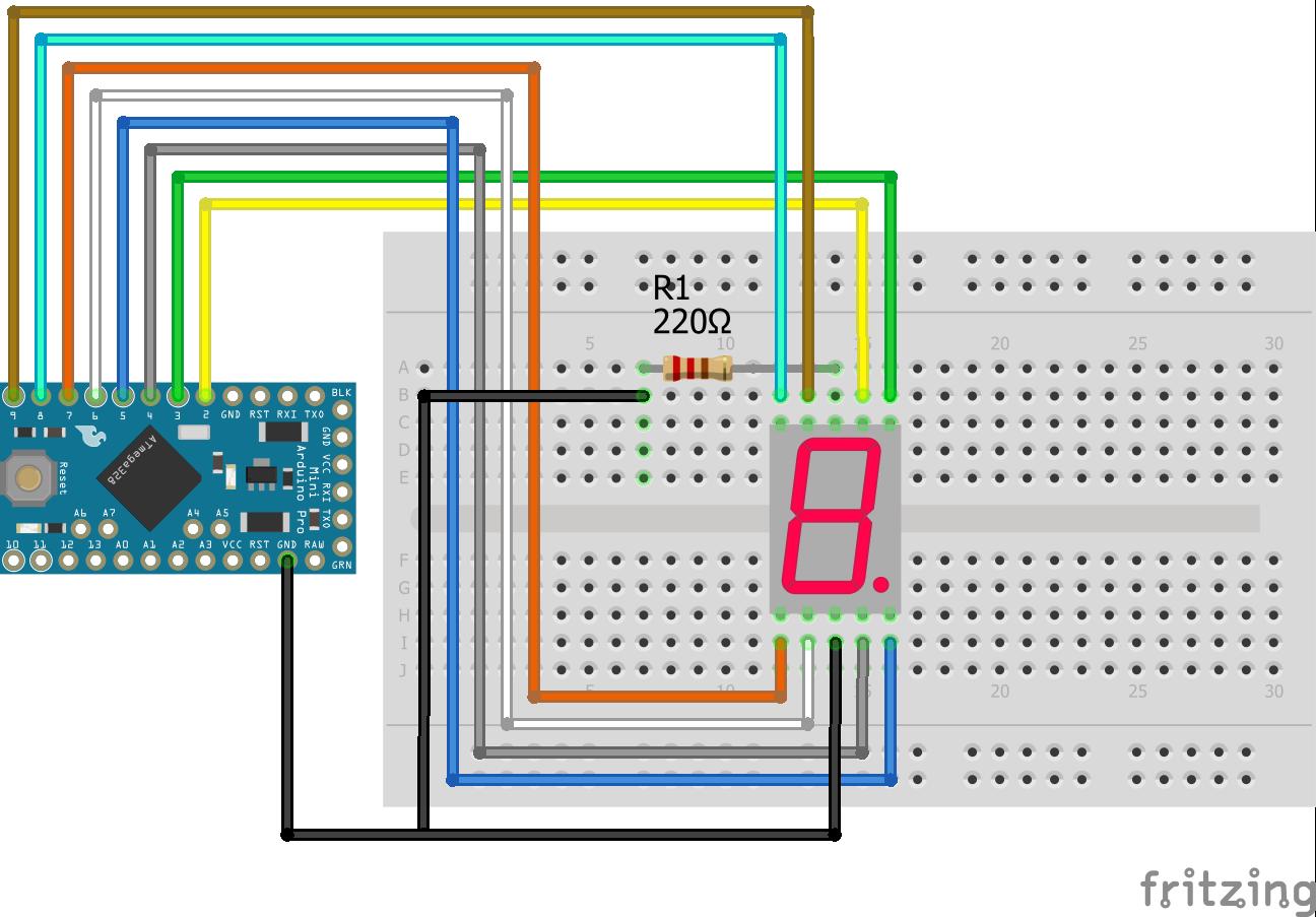 7 Segment LED Display Arduino Pro Mini
