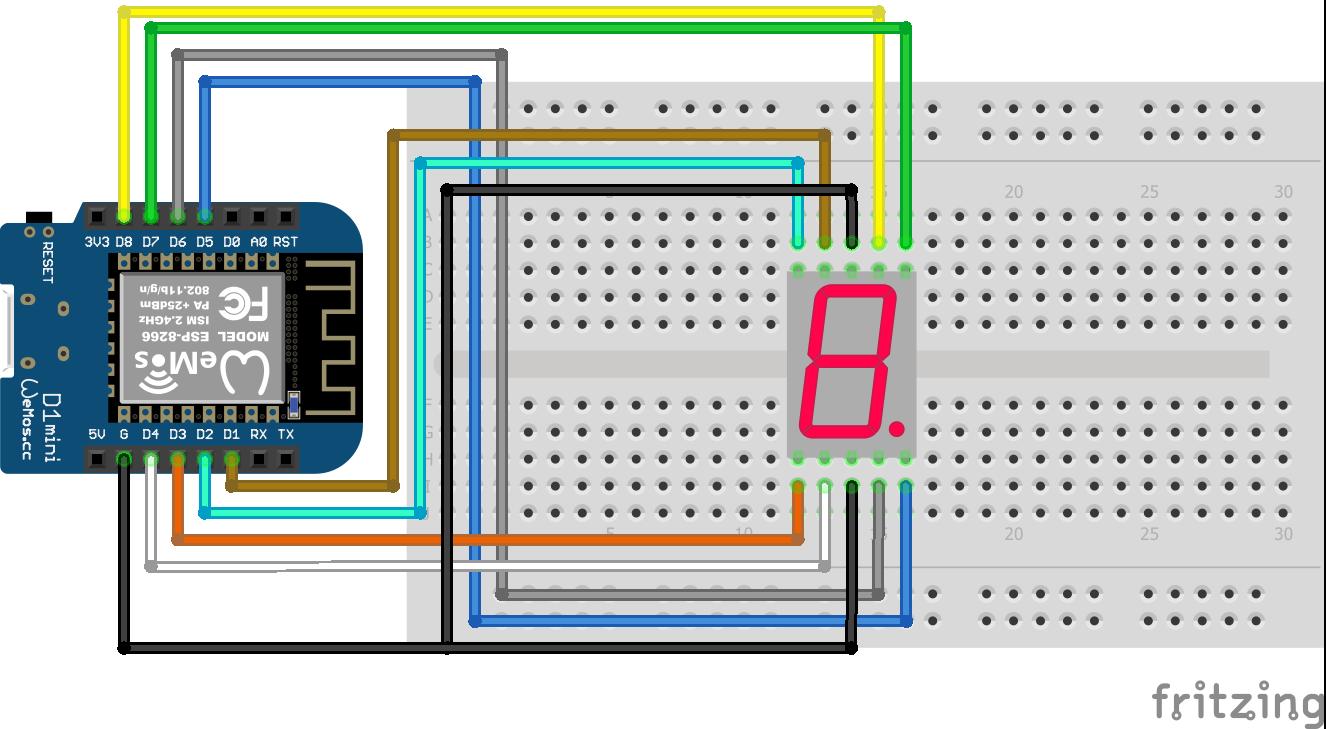 7 Segment LED Display ESP8266 WeMos D1 Mini