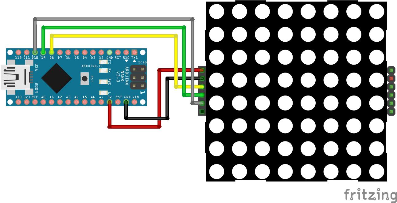 8x8 Dot Display Arduino Nano