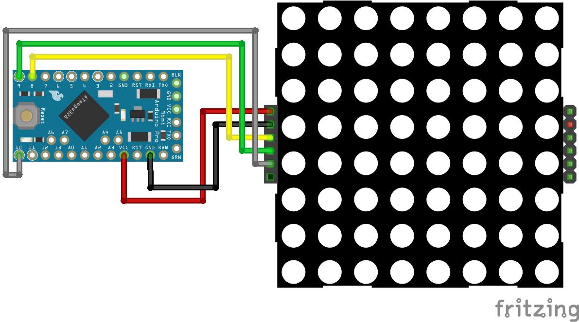 8x8 Dot Display Arduino Pro Mini