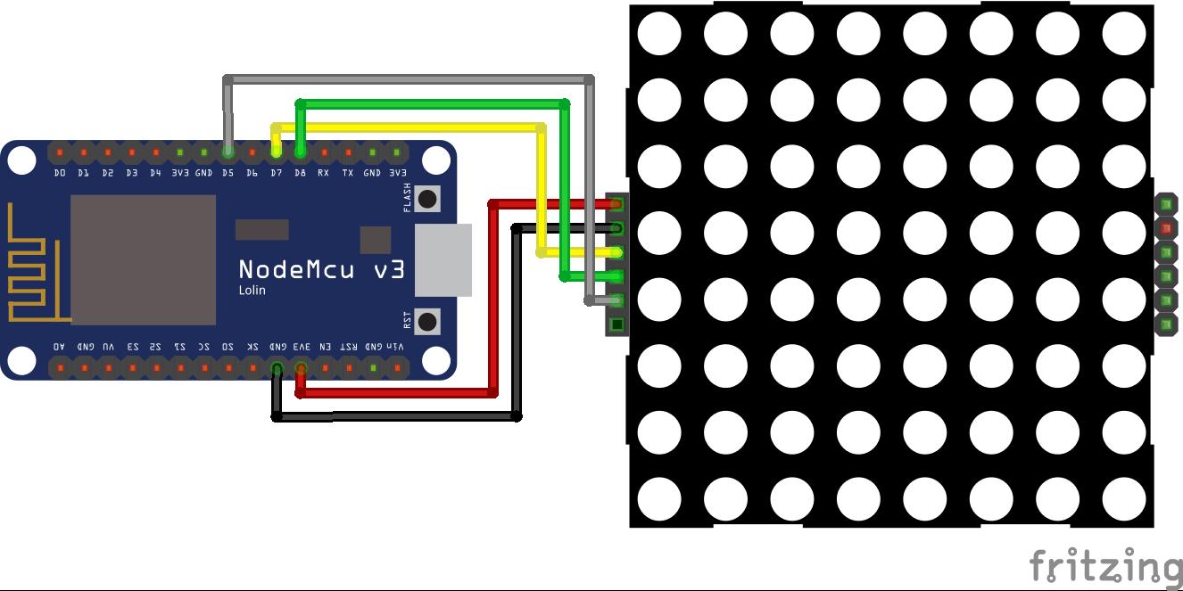 8x8 Dot Display ESP8266 NodeMCU