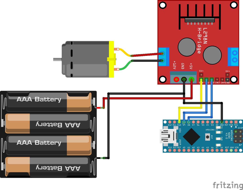 DC Motor L298N Arduino Nano