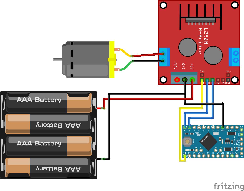 DC Motor L298N Arduino Pro Mini