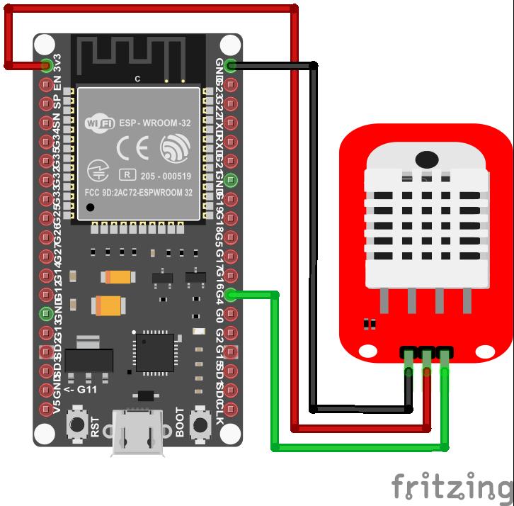 DHT22 Module ESP32 NodeMCU