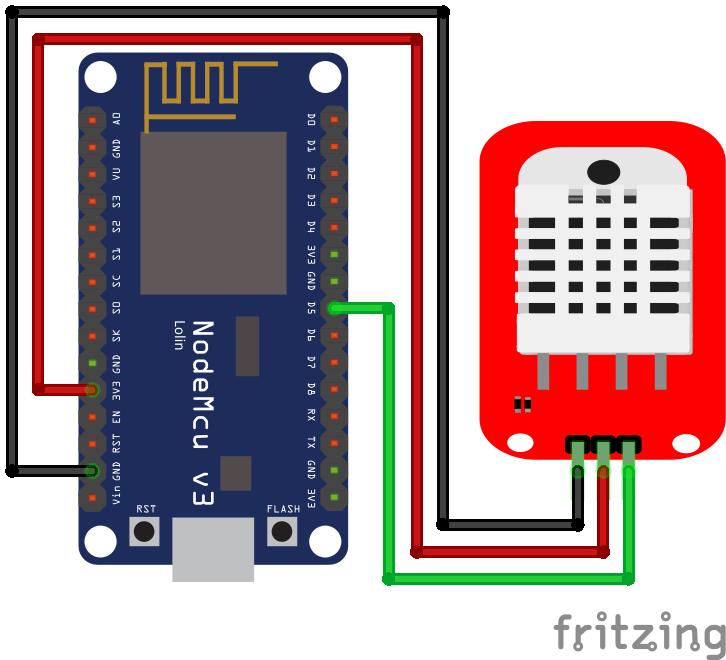 DHT22 Module ESP8266 NodeMCU