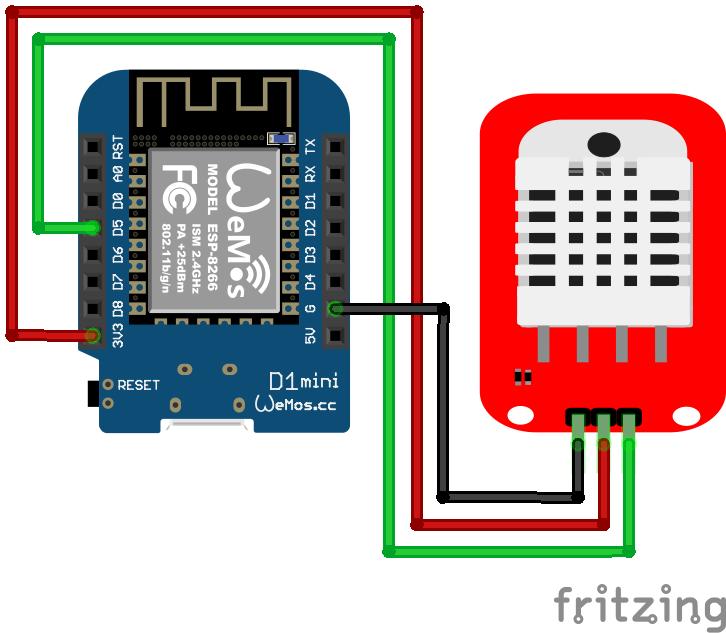 DHT22 Module ESP8266 WeMos D1 Mini