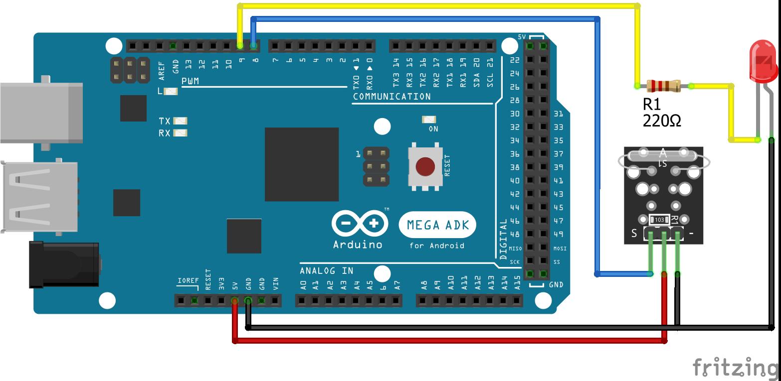 KY-021 Arduino Mega