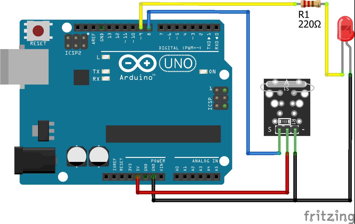 KY-021 Arduino Uno