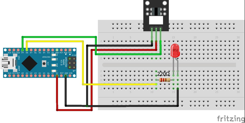 Light Blocking KY-010 Arduino Nano