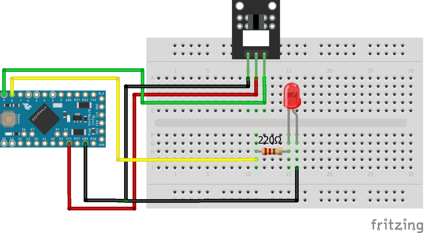 Light Blocking KY-010 Arduino Pro Mini