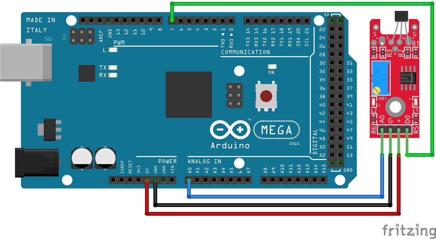 Linear Hall Sensor KY-024 Arduino Mega