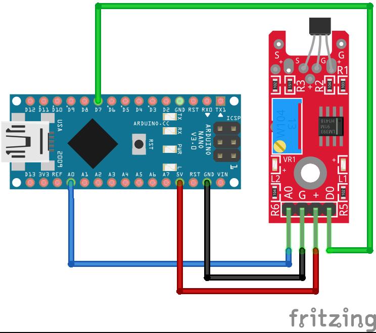 Linear Hall Sensor KY-024 Arduino Nano