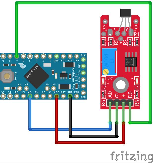 Linear Hall Sensor KY-024 Arduino Pro Mini