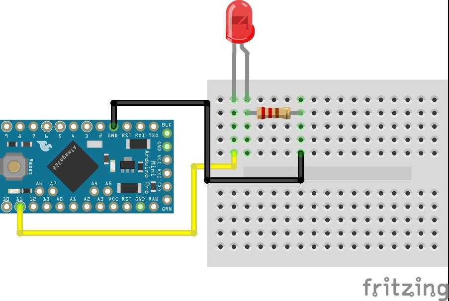 PWM LED Arduino Pro Mini