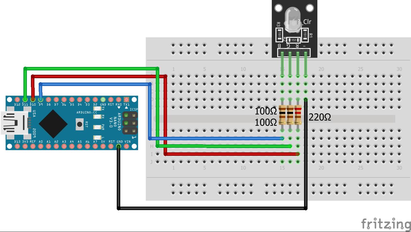 RGB LED KY-016 Arduino Nano