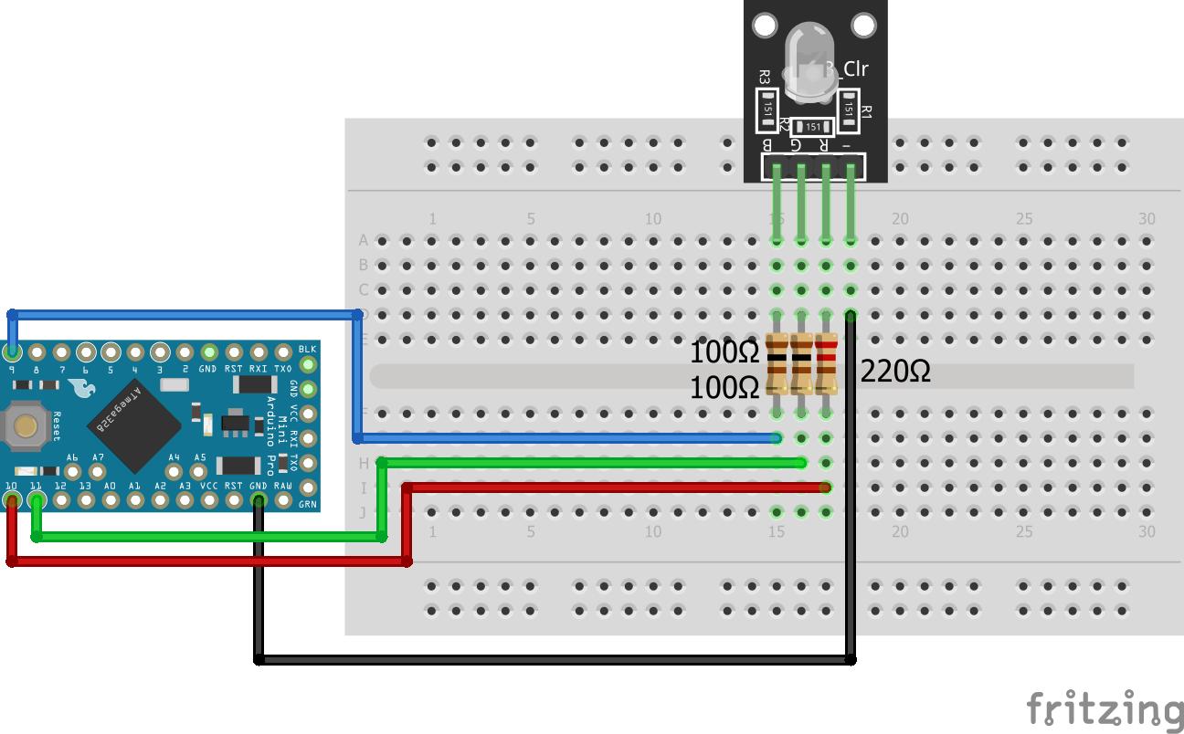 RGB LED KY-016 Arduino Pro Mini