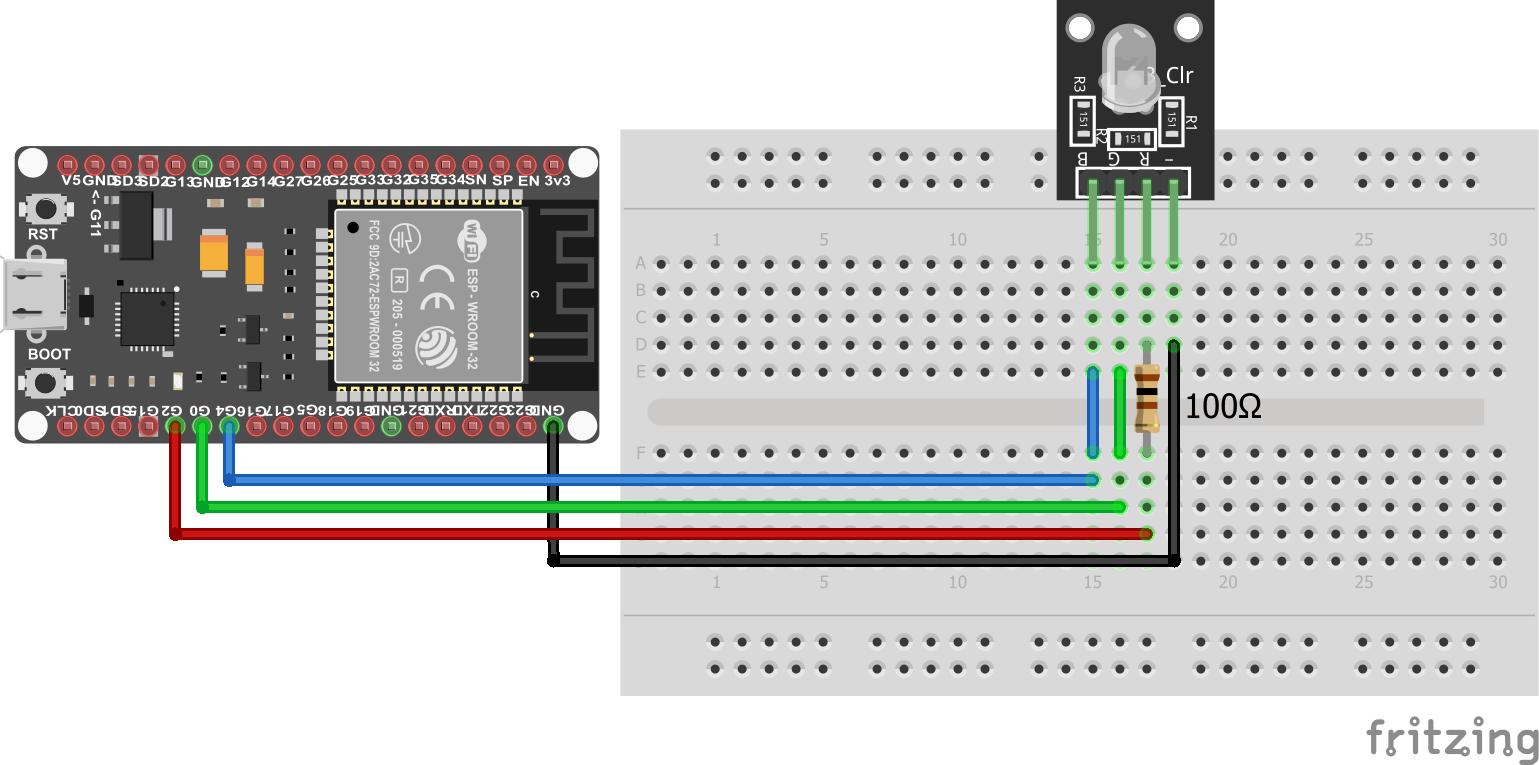 RGB LED KY-016 ESP32 NodeMCU