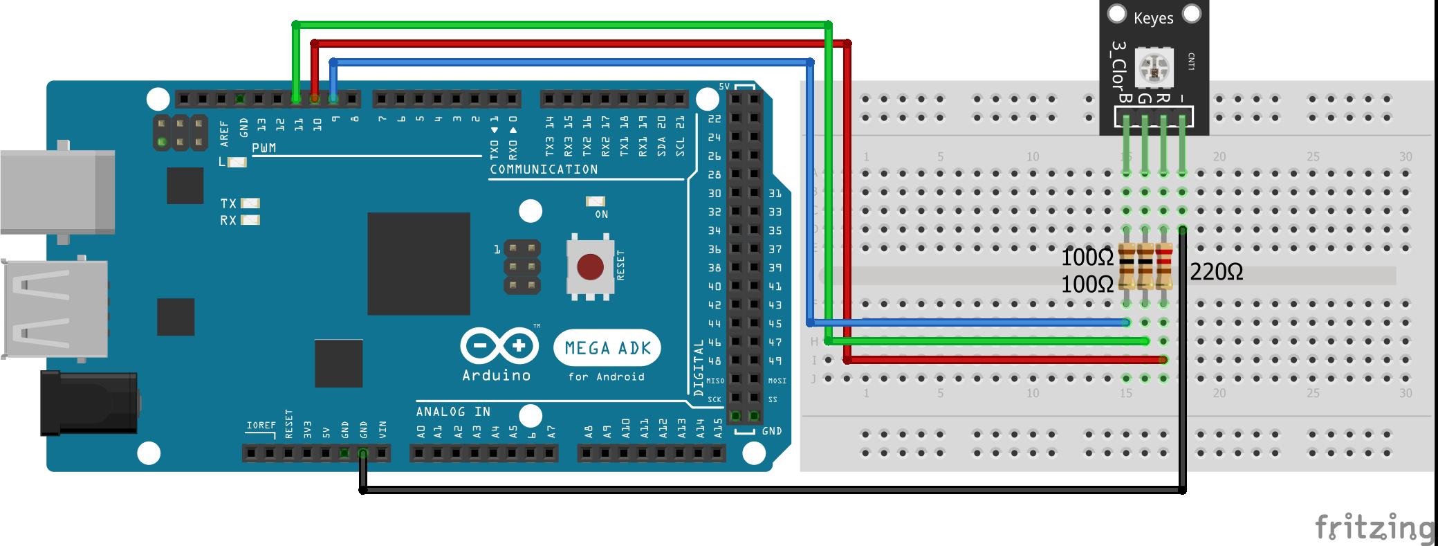SMD RGB KY-009 Arduino Mega