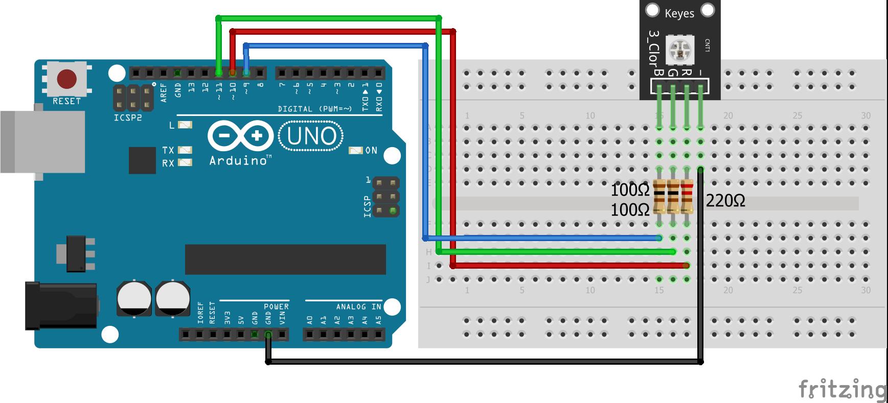 SMD RGB KY-009 Arduino Uno