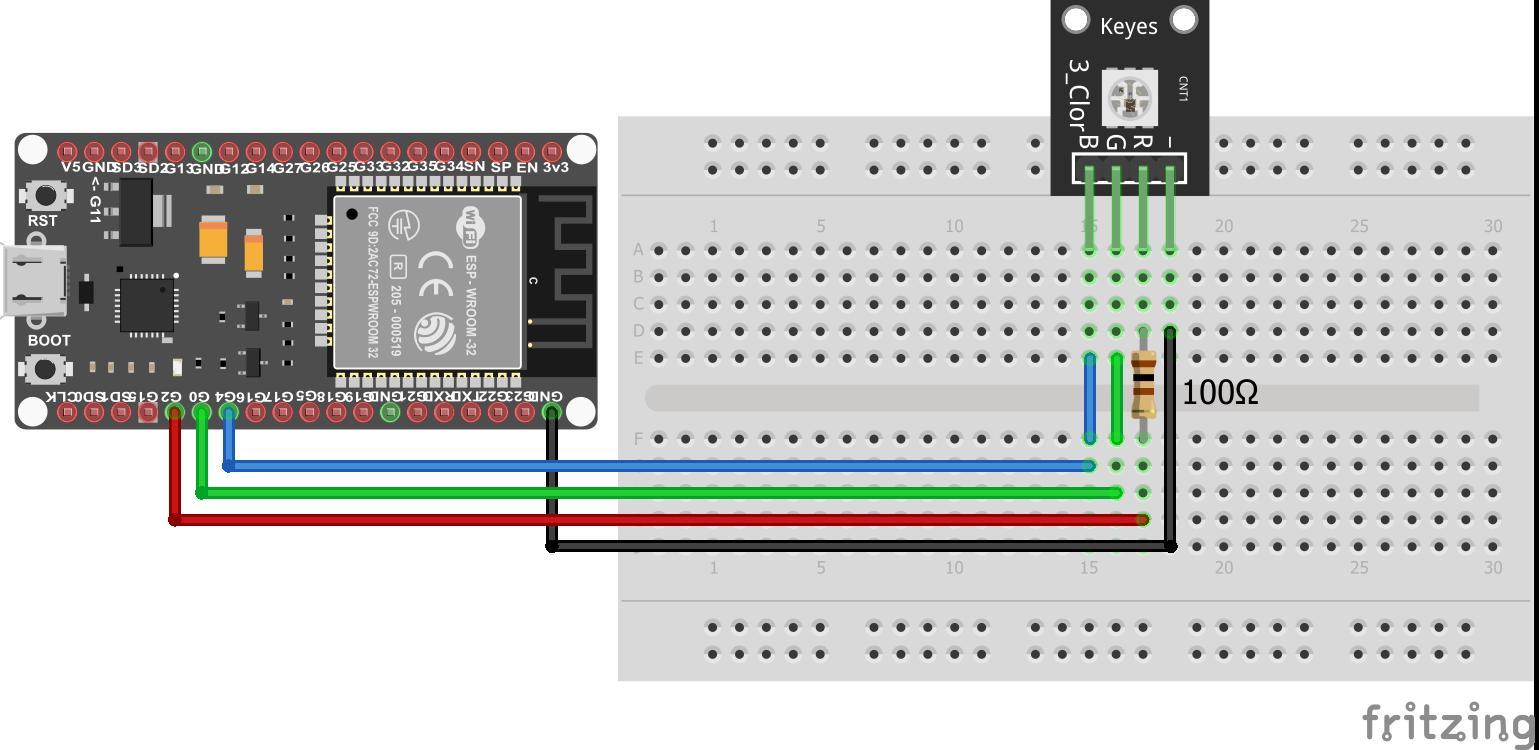 SMD RGB KY-009 ESP32 NodeMCU