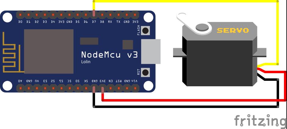 Servo ESP8266 NodeMCU