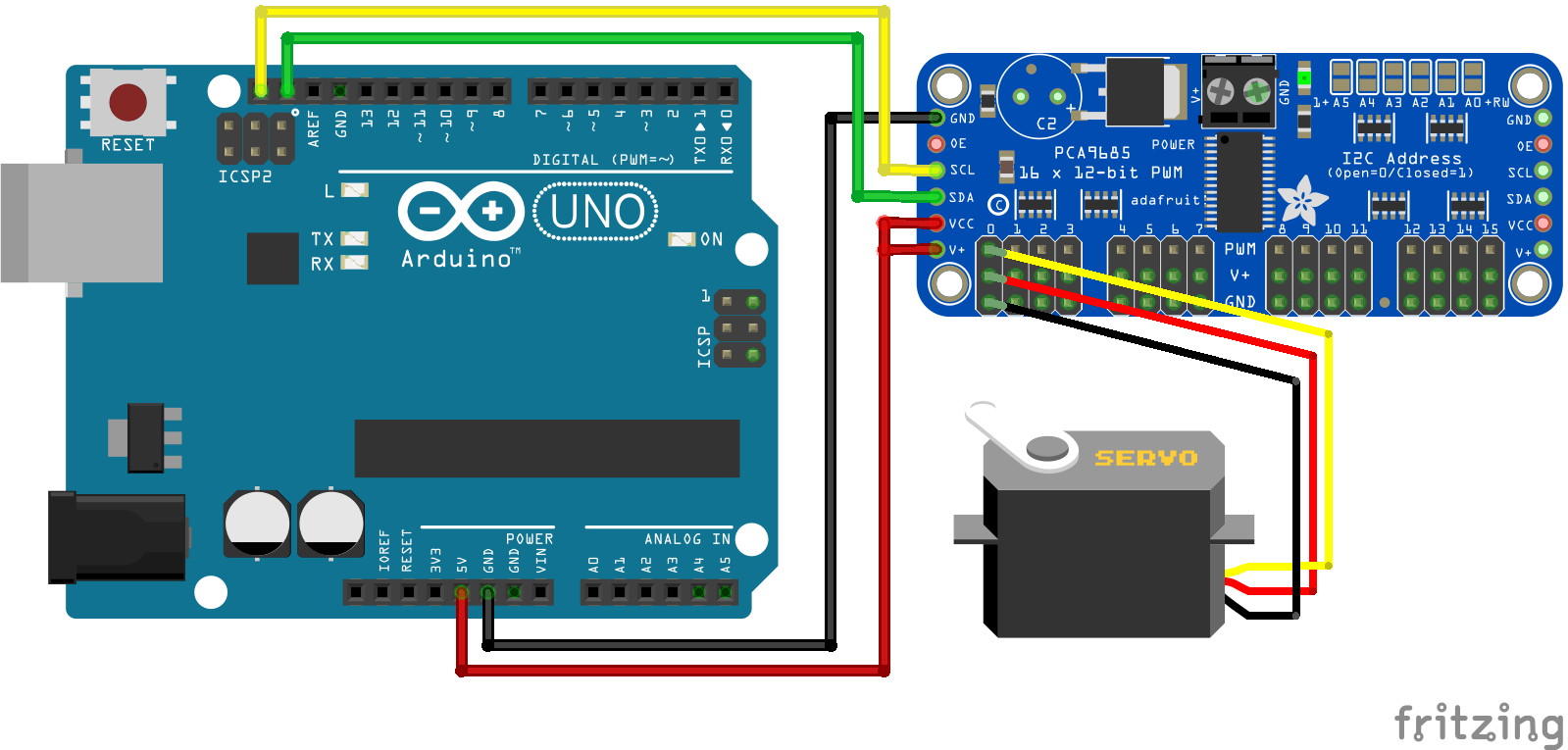 Servo PCA9685 Arduino Uno