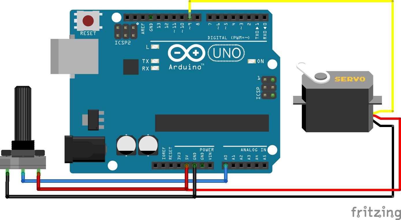 Servo Potentiometer Arduino Uno