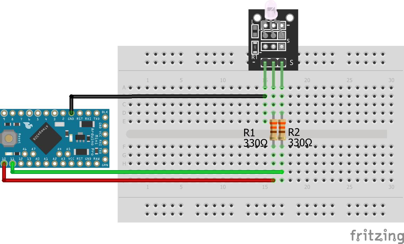 Two-color LED KY-011 Arduino Pro Mini