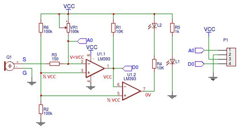 KY-038 sound sensor schematic - no sound