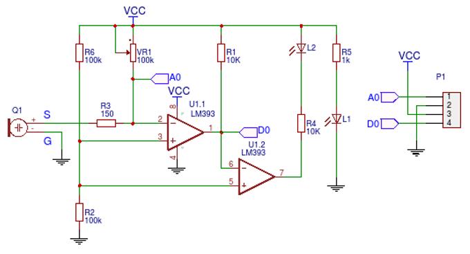 KY-038 sound sensor schematic