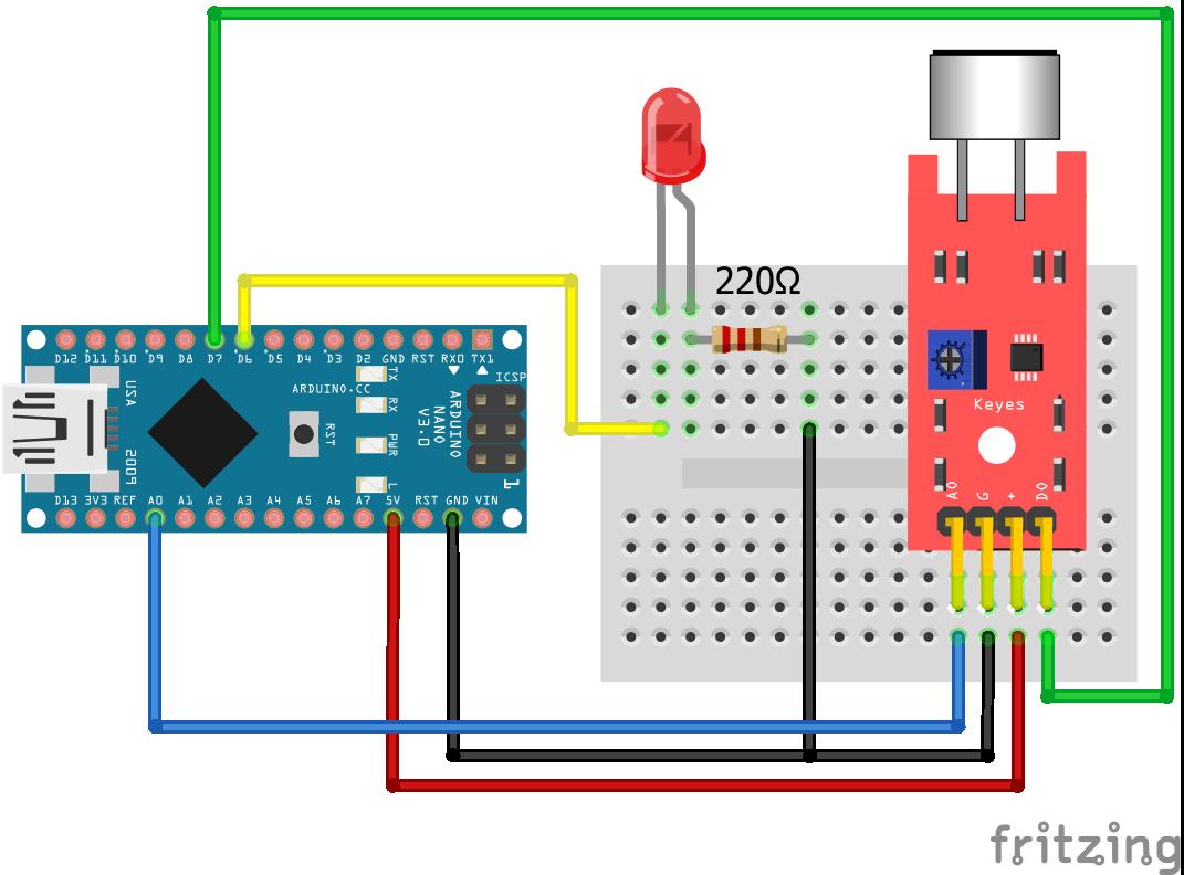 KY-038 Sound Sensor Arduino Nano