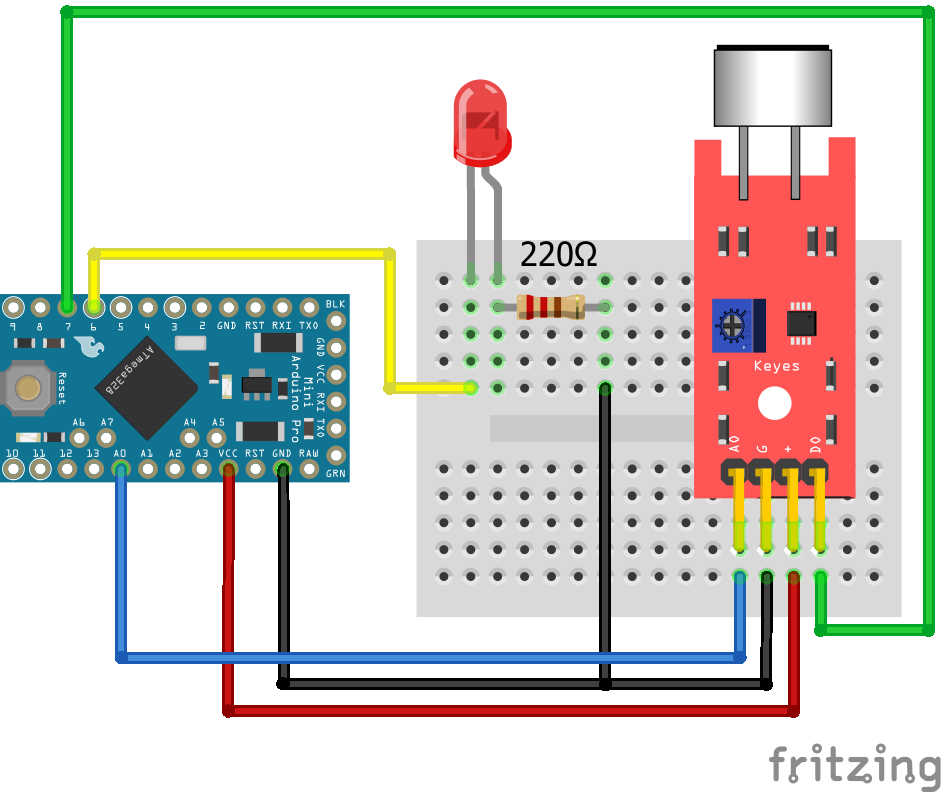 KY-038 Sound Sensor Arduino Pro Mini